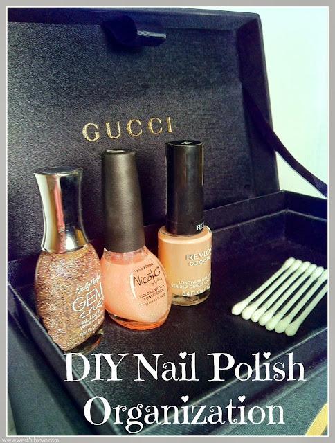 DIY Nail Polish Storage