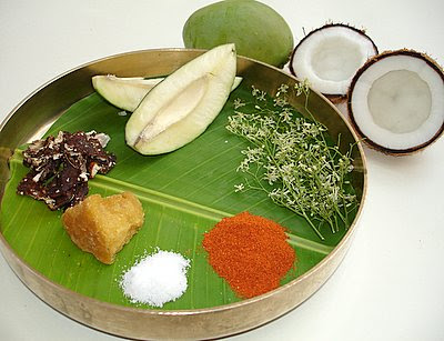 Ingridents to make Ugadi Pachadi