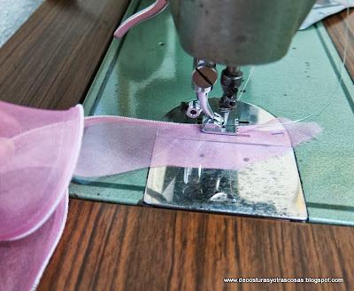 coser-organza