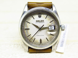 ROLEX OYSTER DATE PRECISION WHITE AGING DIAL - ROLEX 6294 WHITE DIAL