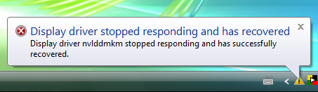 display driver igfx stopped responding and has successfully recovered acer