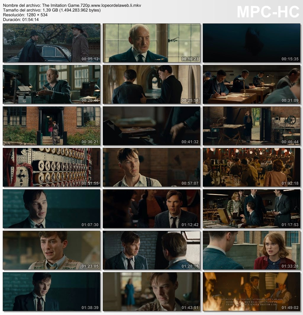 The Imitation Game (2014) BRrip 720p Latino