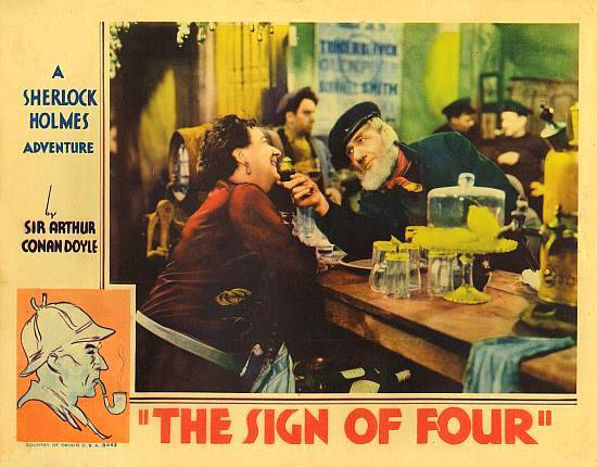 Sherlock Holmes: The Sign of Four 1932 Vintage Film Poster