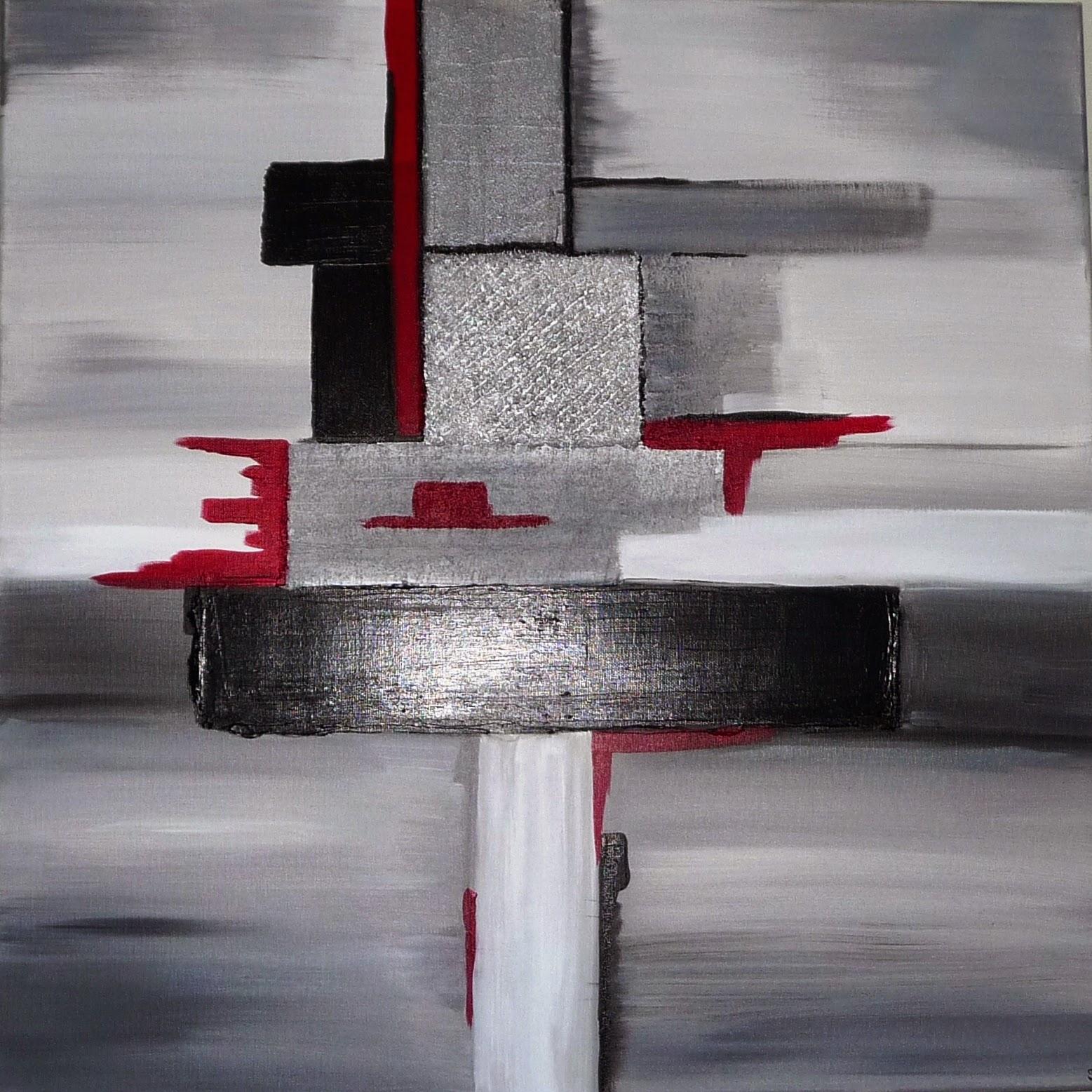 Les tableaux de sido devient sido b cr ations for Peinture gris rouge