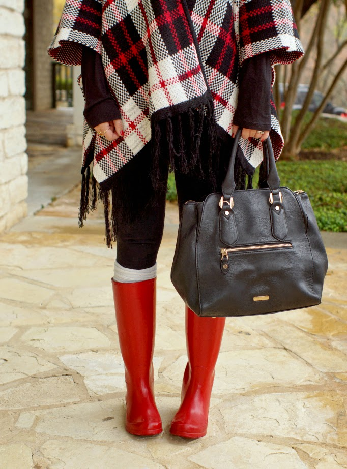 red rain boots plaid fringe tassel forever 21 cardigan