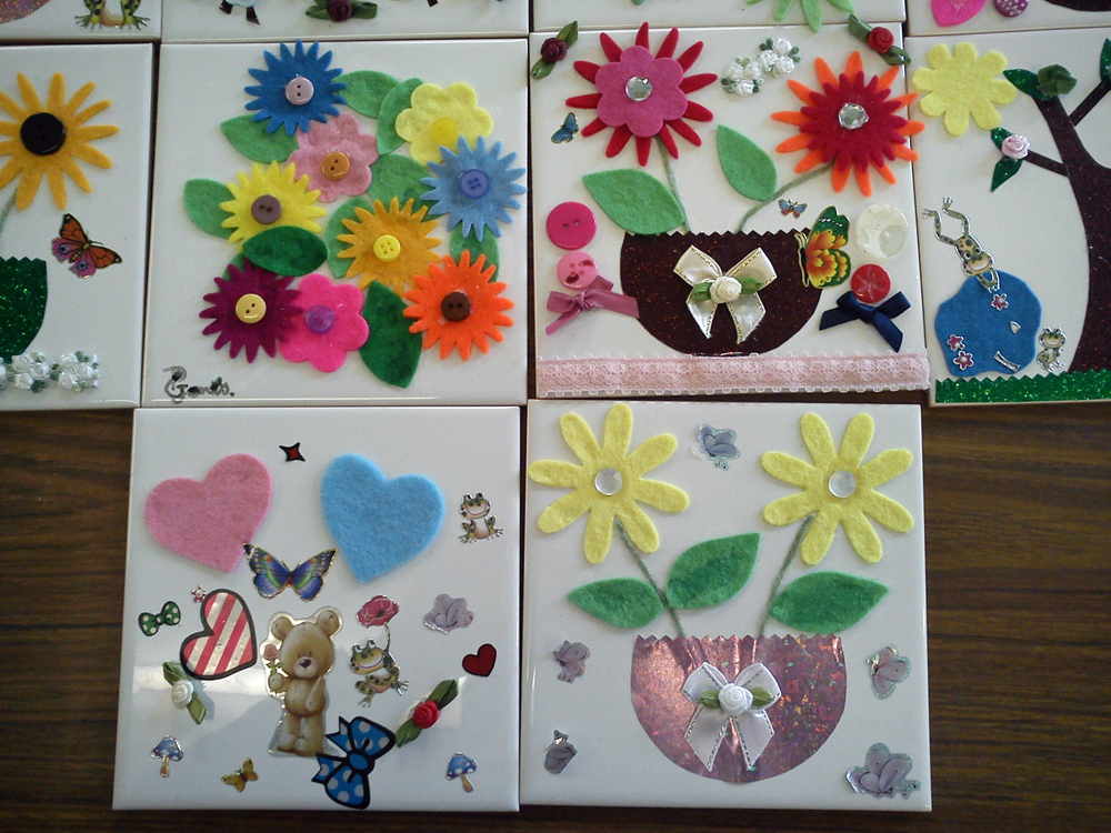 Ceramic tile craft ideas