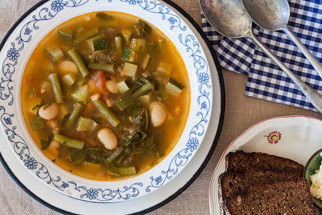 Pečena minestrone čorba od povrća