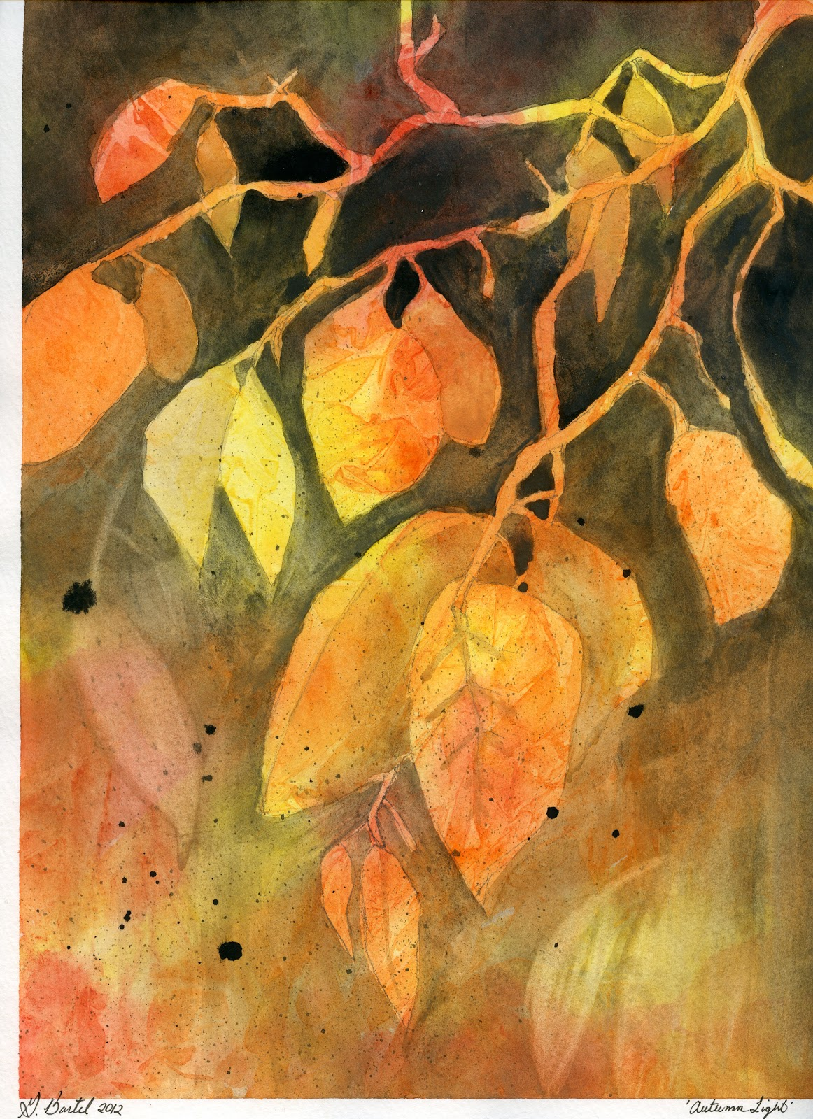 Autumn Leaves Painting How to Paint Abstract Autumn
