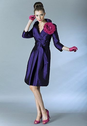 mother of the bride dress with matching overcoat