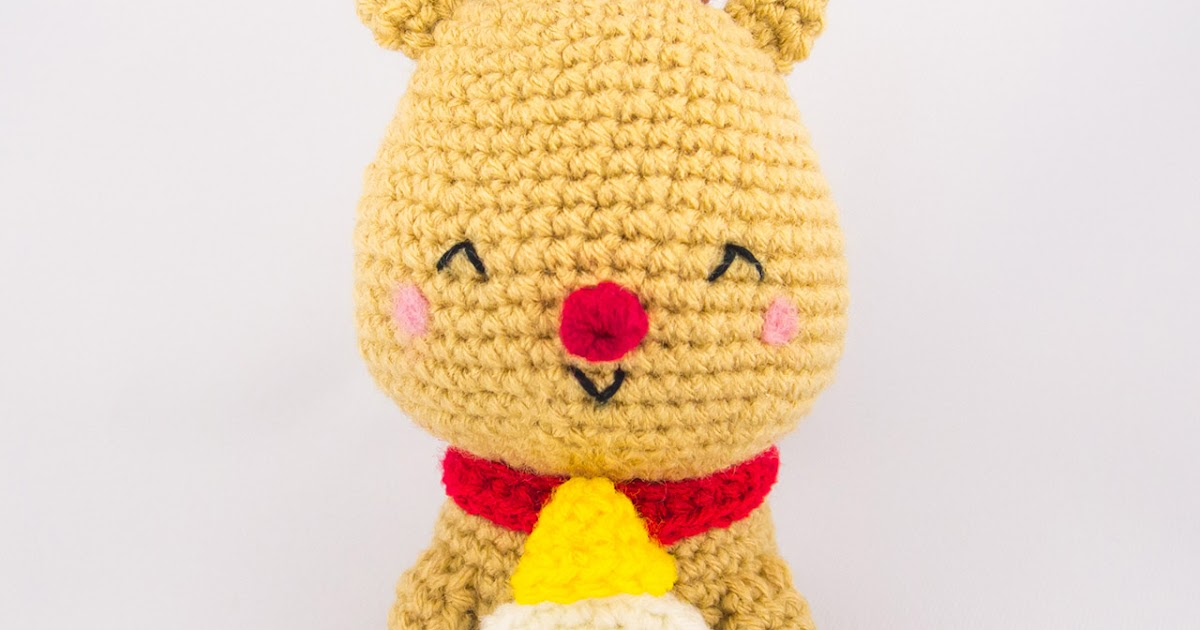 Christmas Reindeer Amigurumi : Jingle the Reindeer Amigurumi ~ Snacksies Handicraft Corner