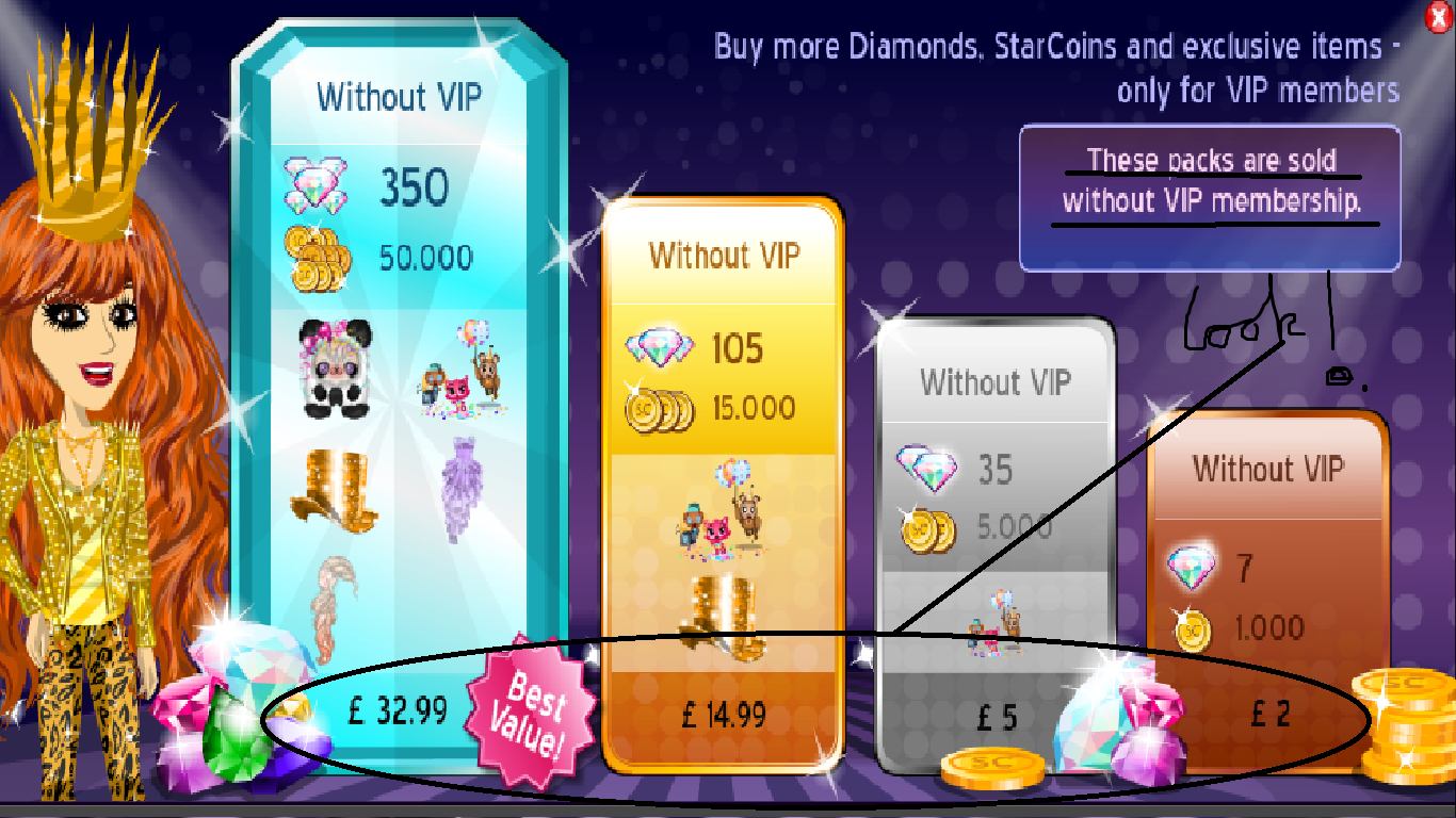 WELL When You have recently purchased VIP the prices magically go