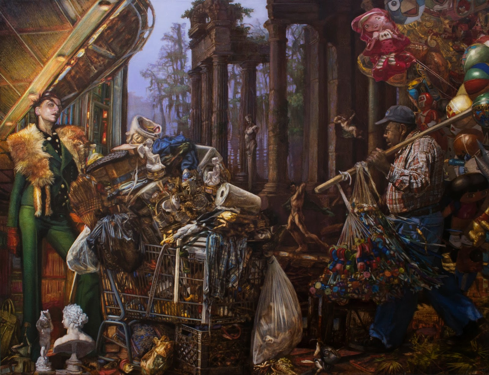 Isaac McCaslin, Collector Of Fine Things, oil on canvas, 40 in. x 60 in. 2014