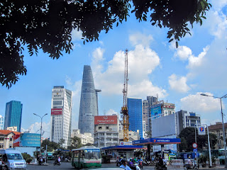 View of the skyscrapers of Ho Chi Minh City