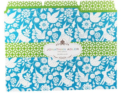 decorative file folders, blue