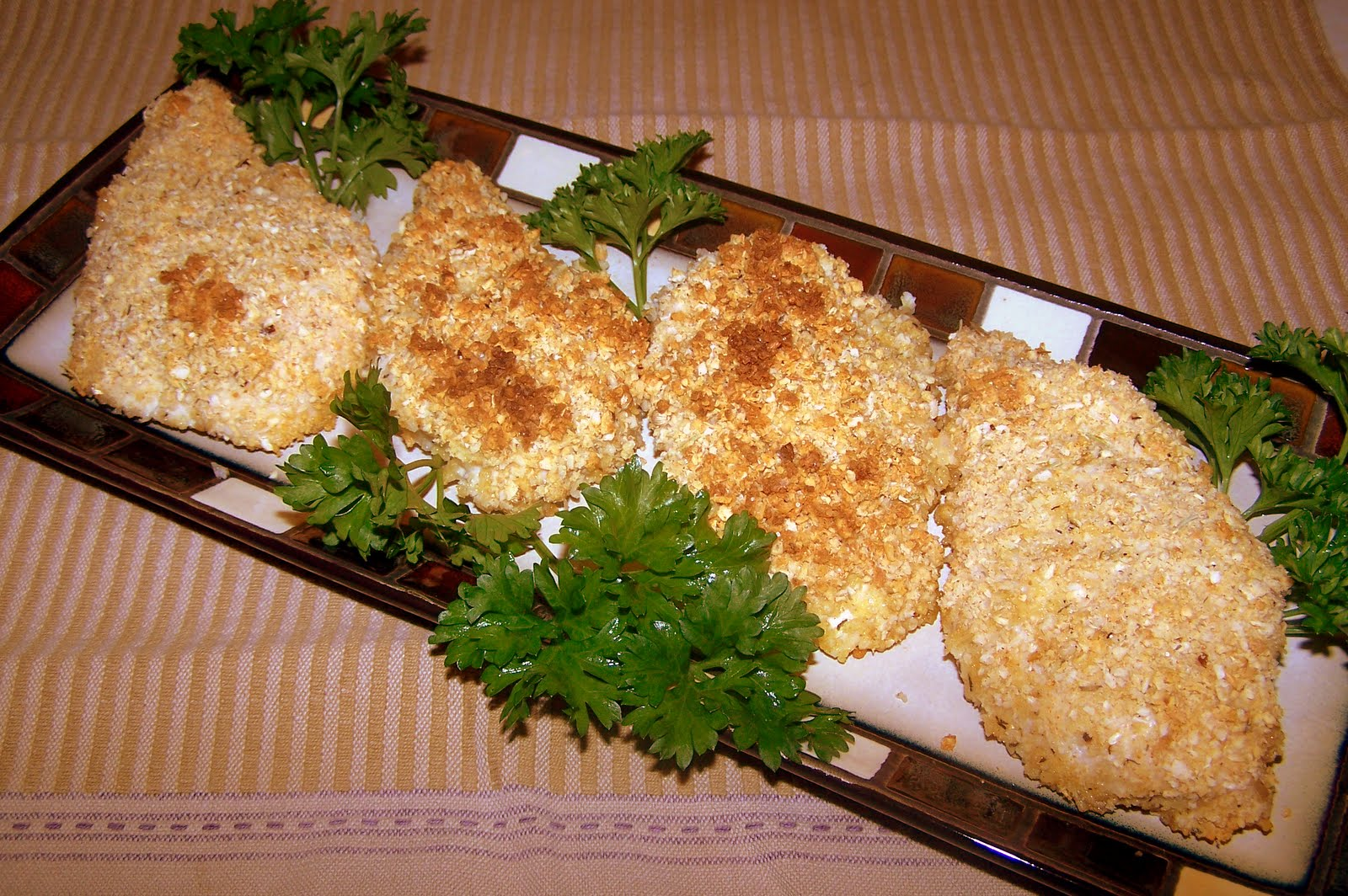 TheKitchenCookie: Parmesan Onion Crusted Baked Chicken Breasts