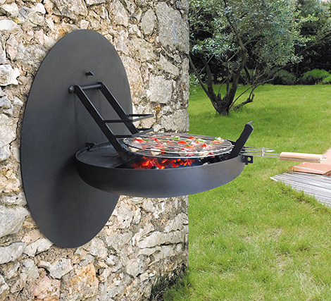 Wall Mount Foldable Barbecue Grill