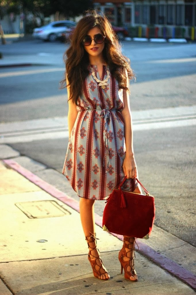 Beautiful Dress With Brown Sandal