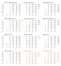 ΜΑΘΗΤΙΚΟ ΗΜΕΡΟΛΟΓΙΟ 2012-13