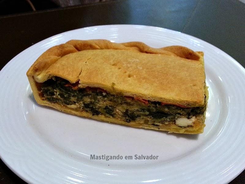Dom Crioulo Café: Torta de Ricota com Espinafre