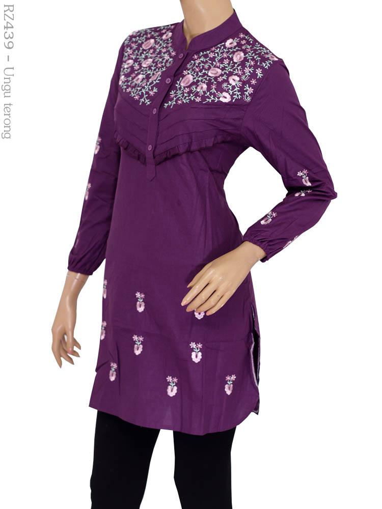 blus bordir riz rz439 busana muslim murah terbaru toko