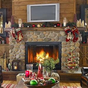 Ideas para decorar la chimenea en navidad especial de - Dibujos de chimeneas de navidad ...