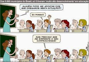 CHARGE - A EDUCAÇÃO PEDE RESPOSTAS!