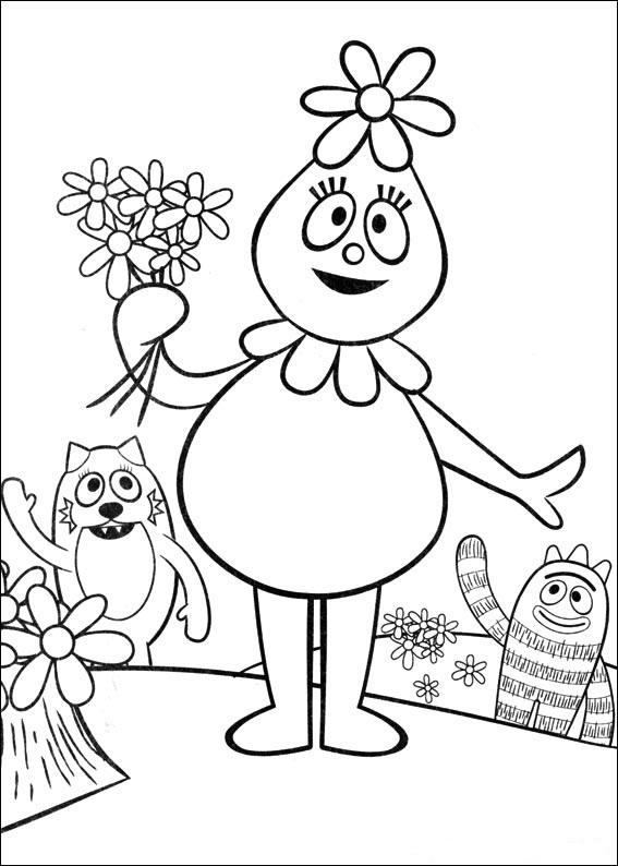 yogabbagabba coloring pages - photo #5