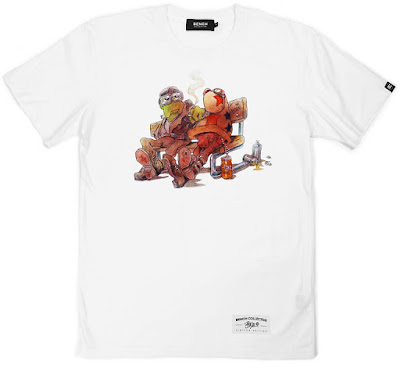 "Mark Bodé x Bench Collective ""Cheech Wizard and Lizard on a Bench"" T-Shirt"