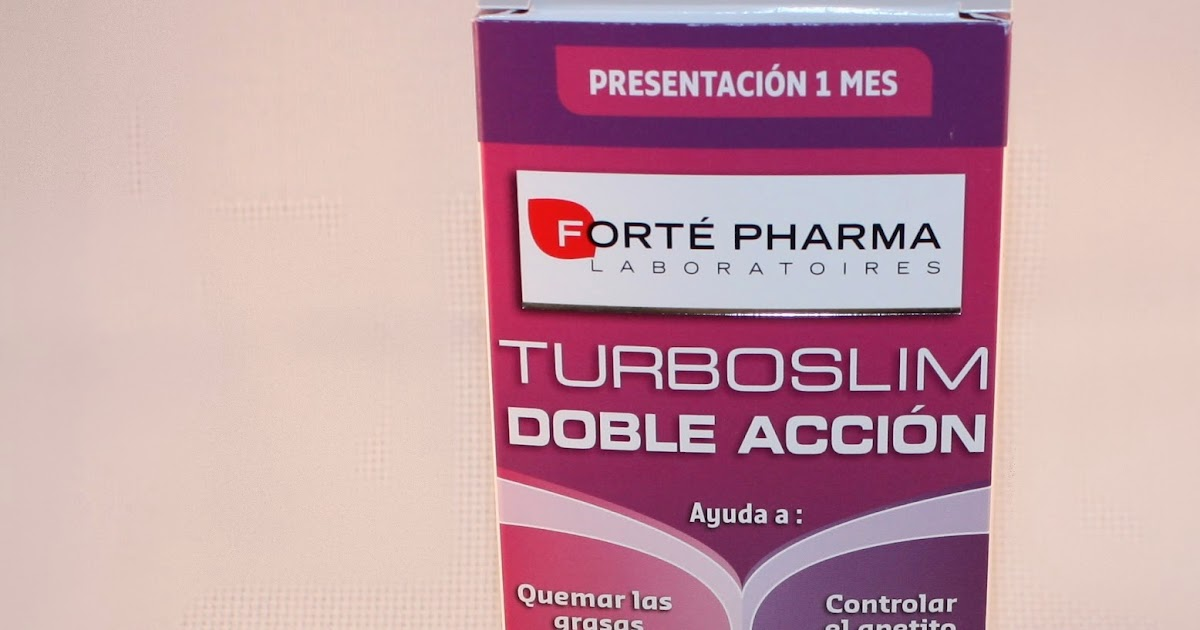 Turbo Slim Doble Accion de Forte Pharma | Mi Cuaderno de Notas