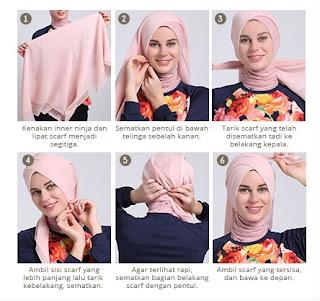 Koleksi Tutorial Hijab Modern untuk Lebaran