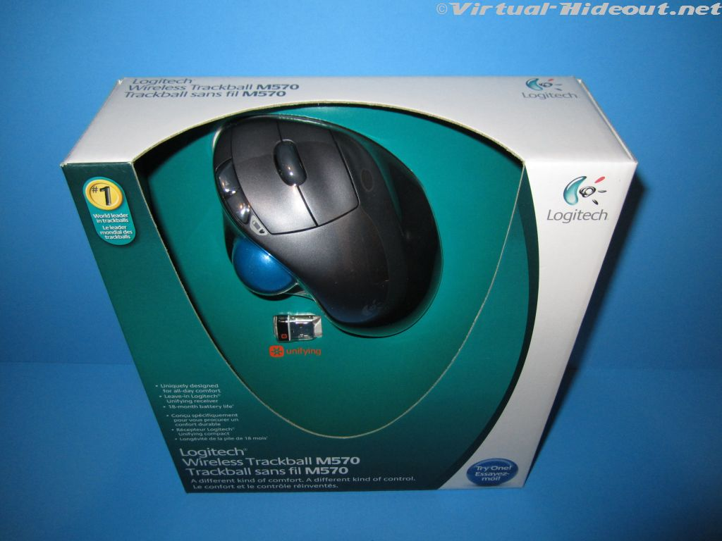 Virtual-Hideout.com: Logitech Wireless Trackball M570 Review