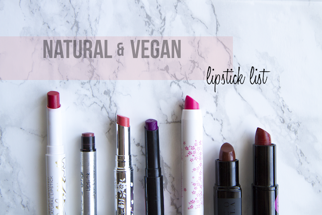 Photo of Natural and Vegan Lipsticks.