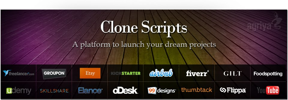 PHP Clone Scripts, Website Clones, Agriya products