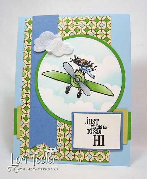 Just Flying By-designed by Lori Tecler/Inking Aloud-stamps and dies from The Cat's Pajamas