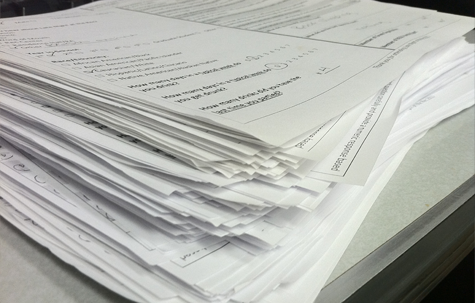 stack of evaluations