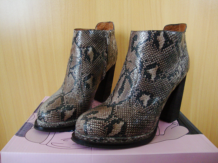 Boots, Desmond, Jeffrey Campbell, python, Shoes, snake