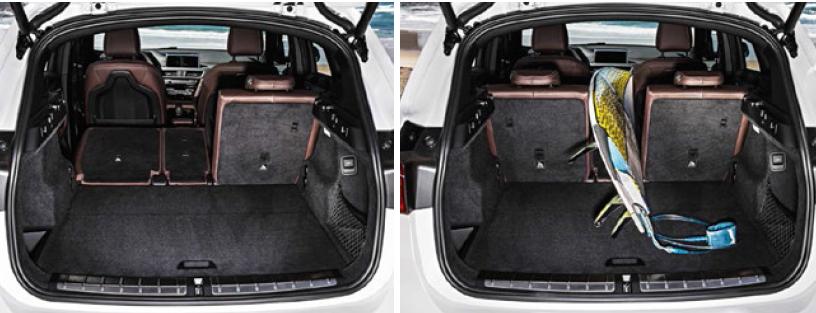 nuova bmw x1 2015 2016 dimensioni bagagliaio peso misure serbatoio capacit baule. Black Bedroom Furniture Sets. Home Design Ideas