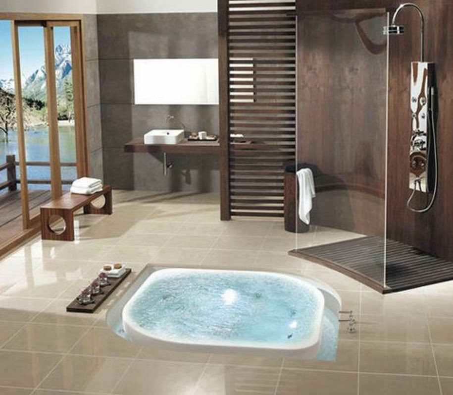 Luxury life design spa like bathroom design - Jacuzzi para interior ...
