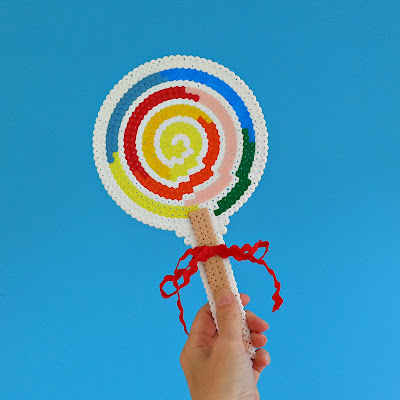 FREE PATTERN: Giant hama bead lollipop (perfect for a Katy Perry costume!)