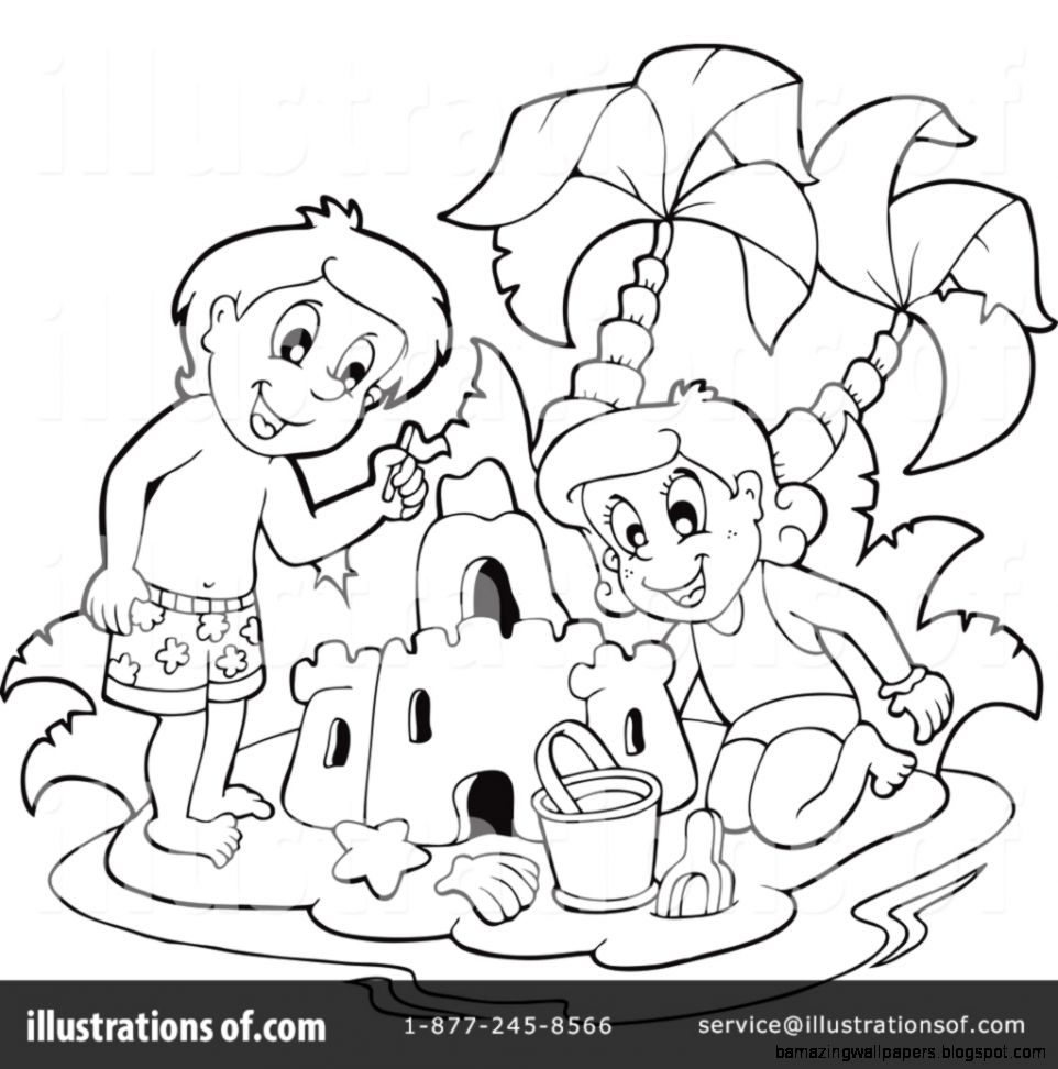 Sand Castle Clipart 1070175   Illustration by visekart