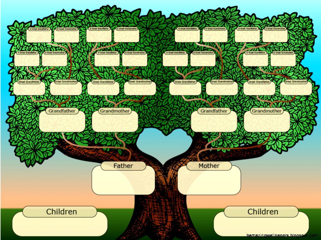 Family Tree Template For Kids  linc rodik