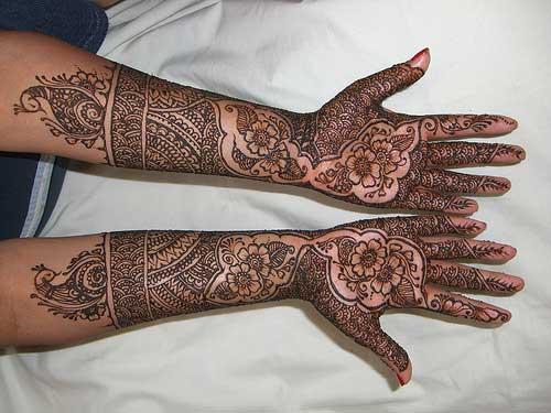 Mehndi Patterns : Arabic henna mehendi patterns designs