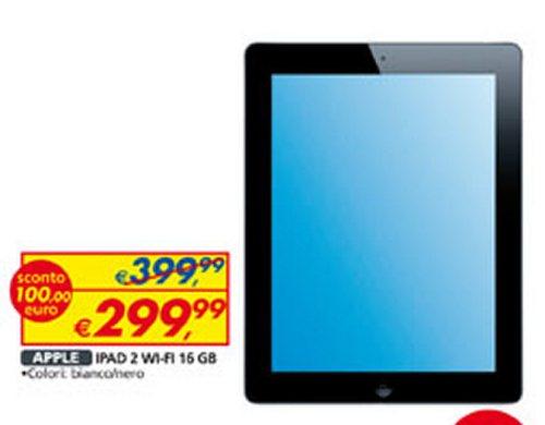 Torna a l'offerta a prezzo bomba sul volantino di metà febbraio 2013 Auchan l'iPad 2 solo Wifi