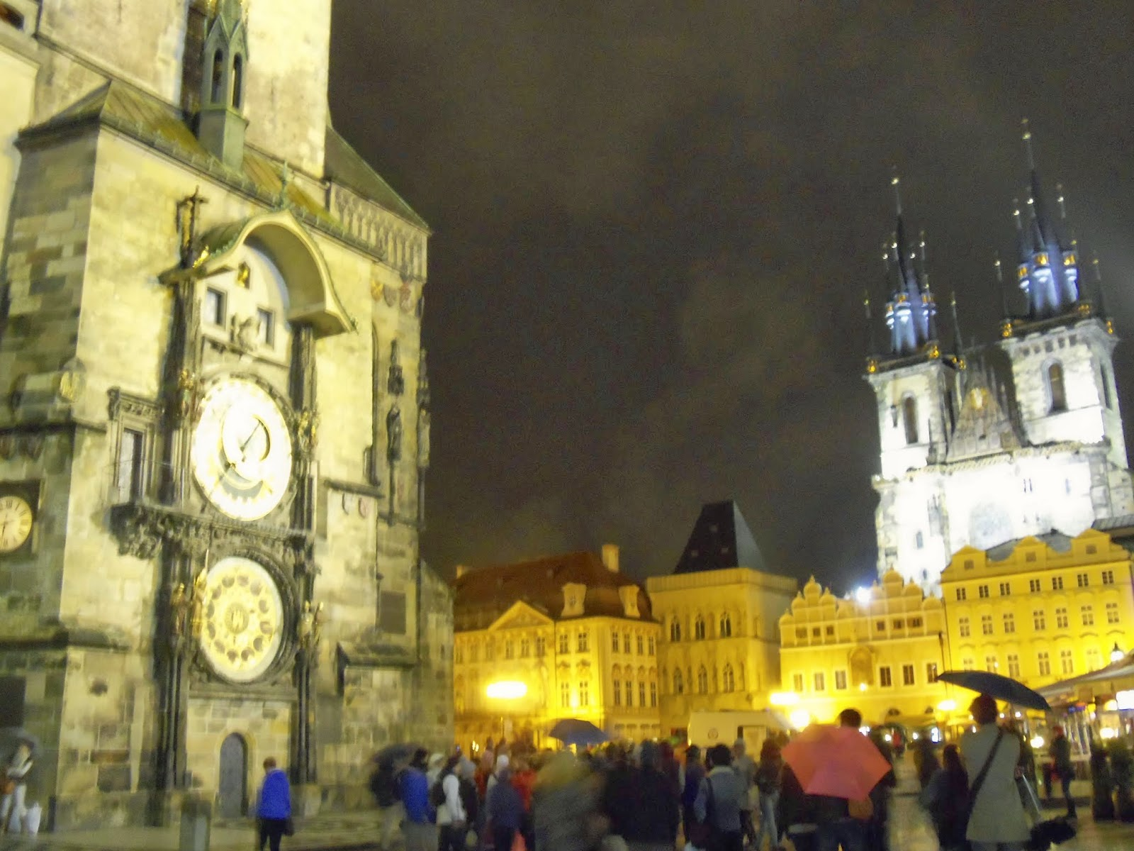 Astronomical Clock and Old Town Square Prague
