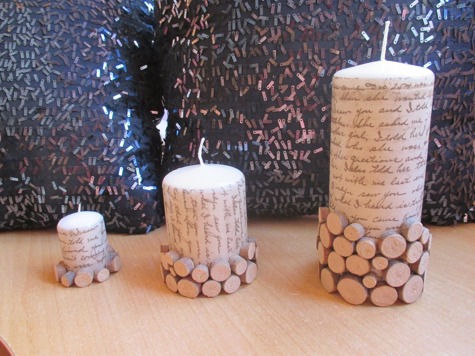 velas decoradas con papel de decoupage - Velas Decoradas
