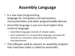 low-level programming language