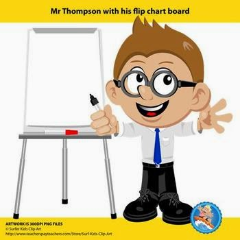 Mr. Thompson's Flipchart Board Freebie by Surfer Kids Clip Art