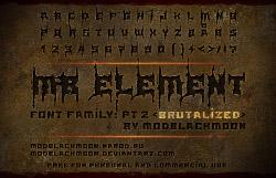 font black metal warrior