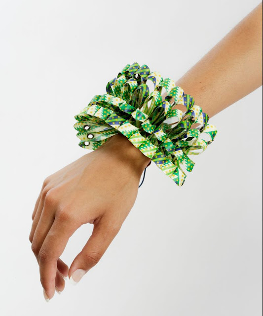 African Print Origami Bracelet - Funduzi by Craig Jacobs - iloveankara.blogspot.co.uk