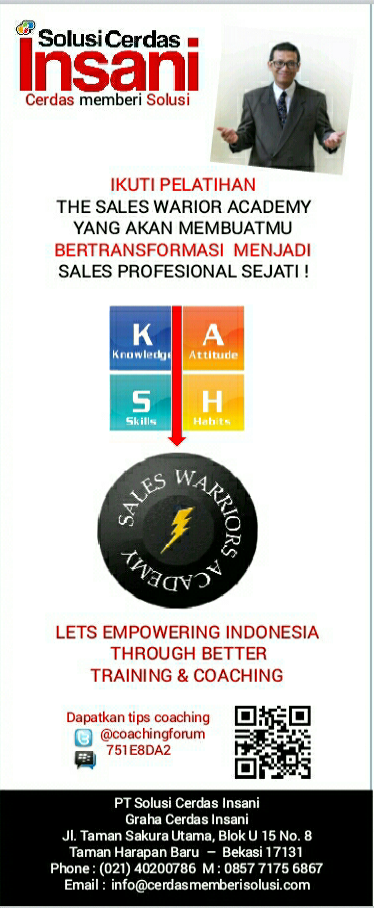 IKLAN THE SALES WARRIORS ACADEMY